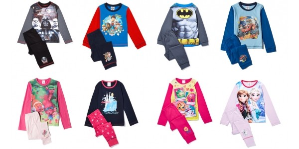 Kids Character Pyjamas 2 For £15 With Free Delivery @ IWOOT