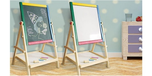 2 In 1 Easel Chalkboard and Whiteboard Now £9.99 @ GoGroopie