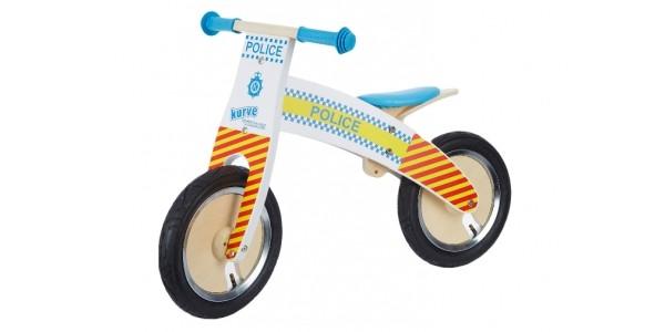60% Off Kiddimoto White Curve Police Balance Bike Now £29.99 @ TK Maxx