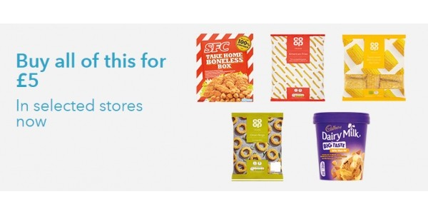 Co-op £5 Frozen Meal Deal