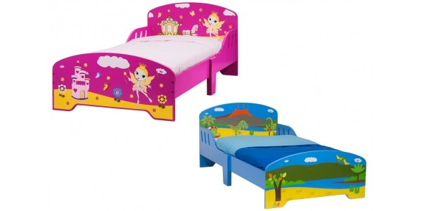 Dinosaur or Princess Wooden Toddler Bed £39.99 With Free Delivery @ Smyths Toys