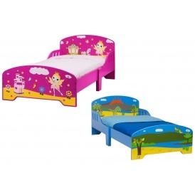dinosaur or princess wooden toddler bed with free. Black Bedroom Furniture Sets. Home Design Ideas