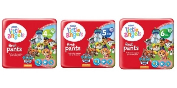 NEW Little Angels Paw Patrol First Pants £3.87 @ Asda