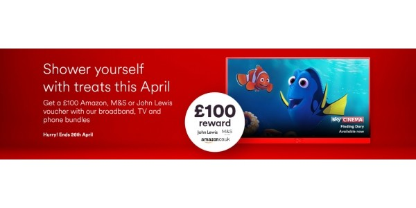 How To Get A £100 Amazon/John Lewis/M&S Voucher From Virgin Media