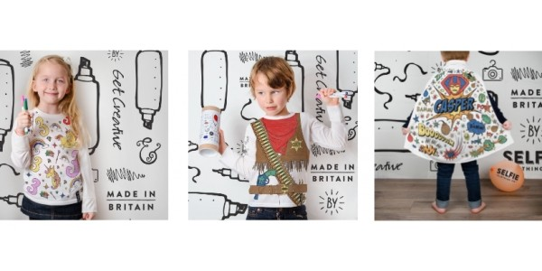 Check Out This Range of Kids Colour-In-Clothes @ Selfie Clothing