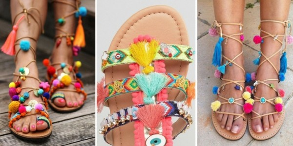 Pom Pom Sandals to Brighten Up Your Day!