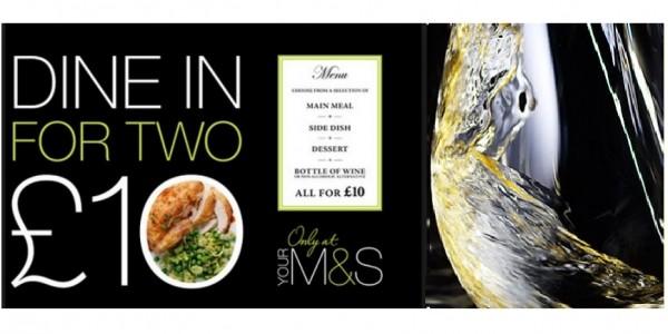 Dine In Meal Deal £10 @ Marks & Spencer
