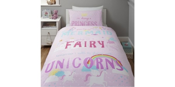 Unicorn Single Duvet Set £9 @ Tesco Direct