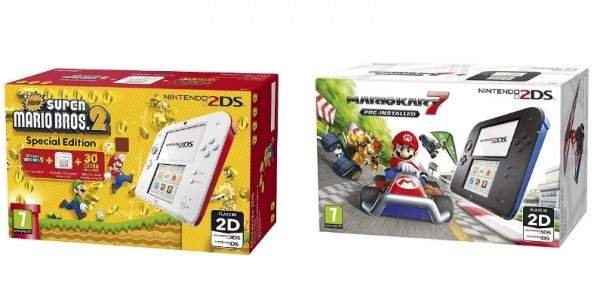 Nintendo 2DS Console Packages From £65.99 (With eCoupon) @ Tesco Direct