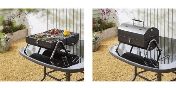 Tesco Portable Twin Grill Barrel BBQ £15 @ Tesco Direct