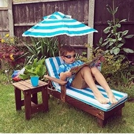 Kids Sun Lounger Set With Side Table £54 99 Delivered