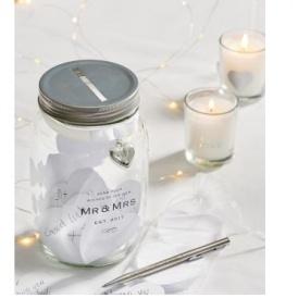 Wish jar at wedding
