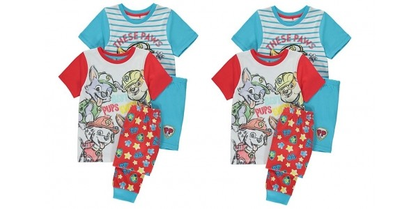 2 Pack Paw Patrol Pyjamas From £10 @ Asda George