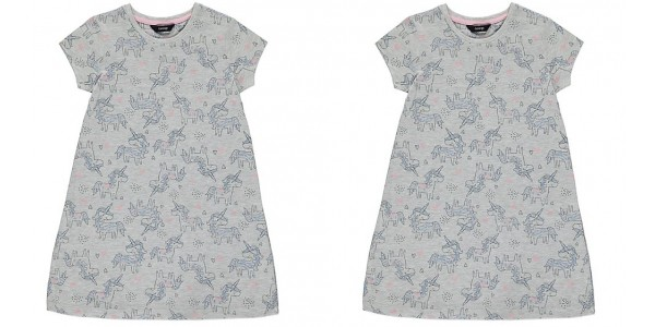 Unicorn Print Jersey Dress £3 @ Asda George