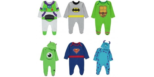 Character Baby All-In-Ones Now £4 / £5 @ Asda George