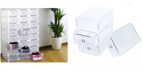 Transparent Foldable & Stackable Shoe Storage Boxes From £10.99 (+£1.99 Del) @ Groupon