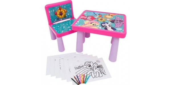 My Little Pony Colouring Table and Chair £9.99 @ Smyths Toys