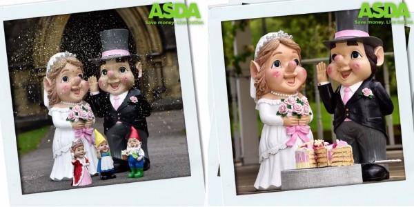 NEW Bride & Groom Giant Gnomes @ Asda
