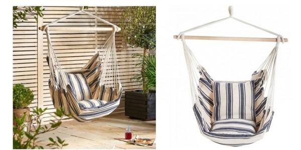 Vonhaus Striped Hanging Garden Chair £19.99 Delivered @ Domu