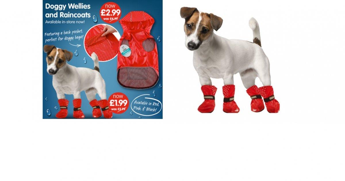 Dog Raincoat Wellies 163 2 99 163 1 99 B Amp M