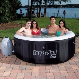 bestway lay z spa miami inflatable 4 person hot tub 297 b q. Black Bedroom Furniture Sets. Home Design Ideas