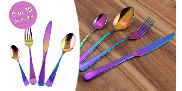 Holographic Cutlery Set From £12.99 @ Go Groopie