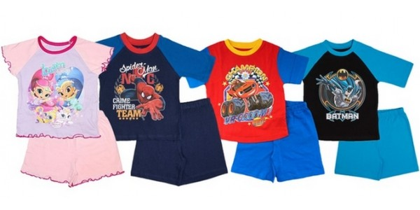 Children's Character Summer Pyjamas From £3.99 @ Groupon