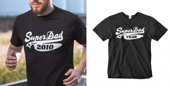 FREE Personalised Super Dad T-Shirt (£3.95 Delivery) @ Your Design