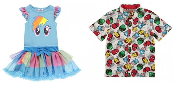 Children's Character Clothing from £2 @ Sports Direct
