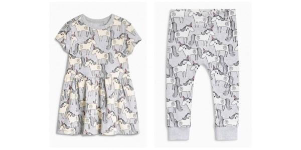 Girls Grey Unicorn Tunic & Leggings £6 @ Next