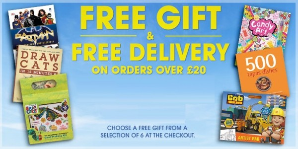 FREE Gift & FREE Delivery When You Spend £20 @ The Book People (Expired)