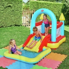 Chad valley bouncy house and pool argos for Garden pool argos