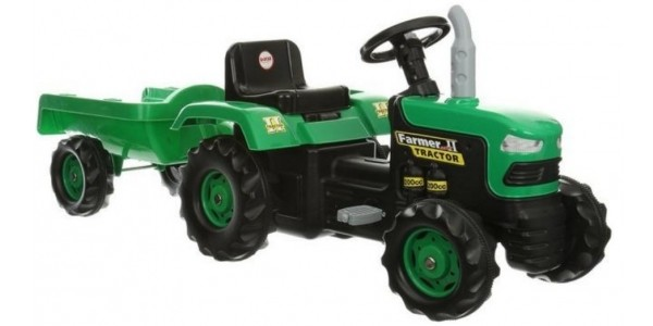 Dolu Ride-On Tractor with Trailer £32 (was £100) @ Halfords