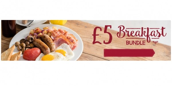 £5 Breakfast Bundle (Print Off Voucher) @ Toby Carvery