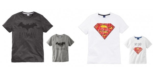 Matching Father & Child Superhero T-Shirts @ Lidl