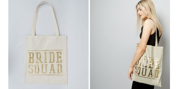 Gold Bride Squad Canvas Tote Bag £2.99 @ New Look