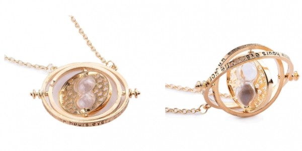 Harry Potter: Hermione Gold Plated Time Turner Necklace with Hourglass £4.89 Delivered @ Amazon Seller: Best Trade Deals