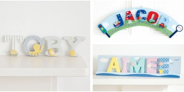 Wooden Decorative Letters £1.25 Each With Free Delivery @ JoJo Maman Bebe