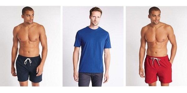 FREE Men's T-Shirt Worth £6 When You Buy £10 Swimshorts @ M&S
