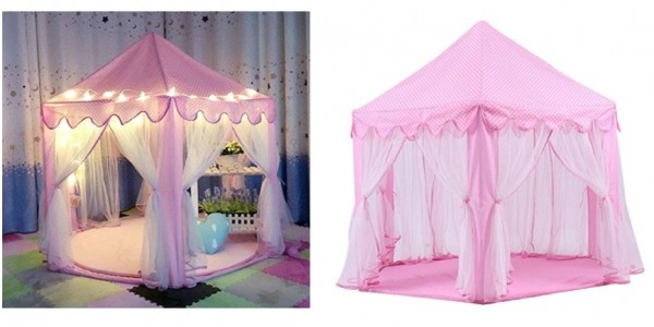 Indoor Princess Castle Tent With Lights £34.99 Delivered @ Amazon Seller: Decestar