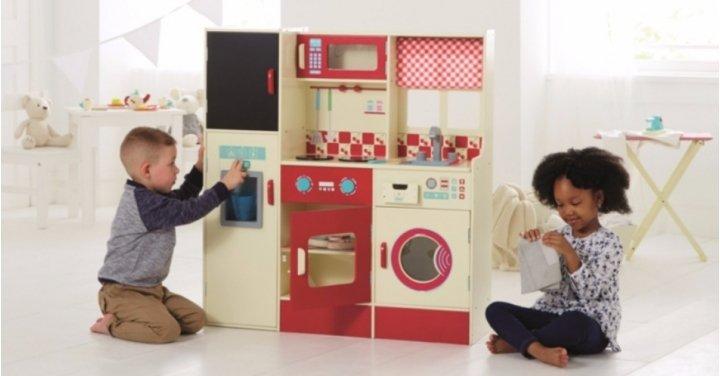 wooden kitchen laundry set 55 was 65 asda george. Black Bedroom Furniture Sets. Home Design Ideas