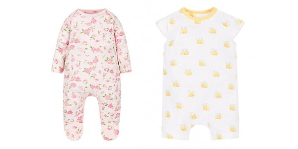 2 For £10 Selected Rompers and All in Ones @ Mothercare