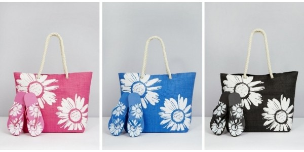 Floral Beach Bag With Matching Flip Flops £4.99 @ Studio