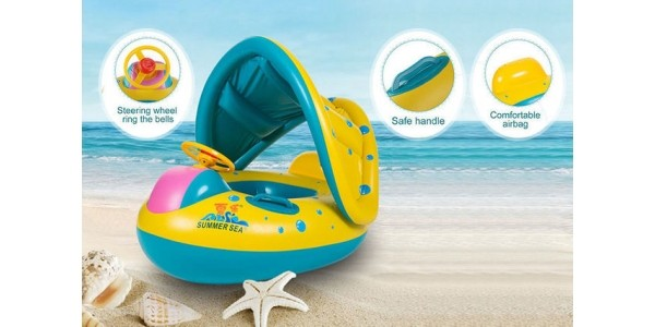 70% Off Inflatable Baby Float Boat Now £8.99 @ Wowcher