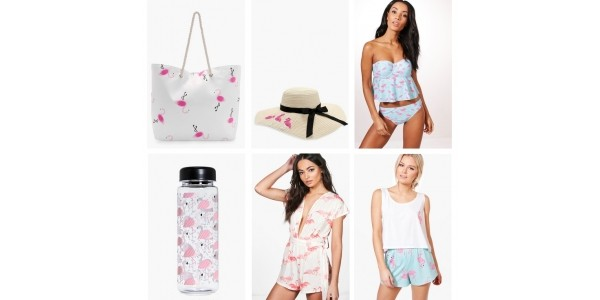 Flamingo Collection From Just £1 @ Boohoo