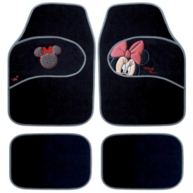 mickey minnie car mats delivered amazon. Black Bedroom Furniture Sets. Home Design Ideas