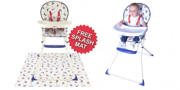 Red Kite Ahoy Ahoy Highchair With FREE Splash Mat £27 @ Asda George