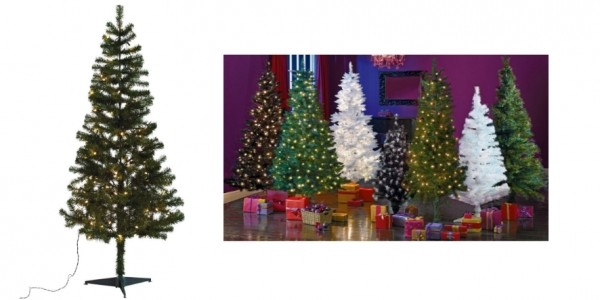 Green Pre-lit Christmas Tree - 6ft £4.99 @ Argos