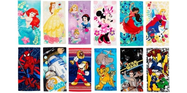 Disney Beach Towels Now £9 With FREE Personalisation @ The Disney Store