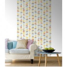 Orla Kiely Wallpaper Dupe Debona Jasmine Glitter